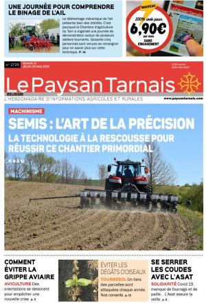 La couverture du journal Le Paysan Tarnais n°2668 | avril 2018